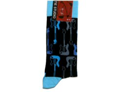 Black Socks Blue Guitar Design