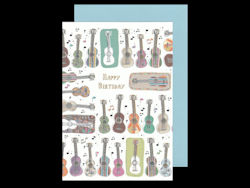 Bontempi Design Guitar Birthday Card