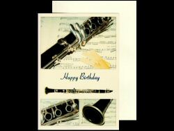 Clarinet Photo Birthday Card