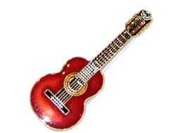 Classical Guitar Pin Badge