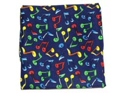 Colourful Quaver Notes Handkerchief
