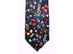 Navy Blue Tie Colourful Notes Design