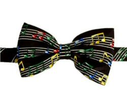 Colourful Wavy Stave Bow Tie