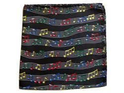 Colouful Wavy Stave Design Handkerchief