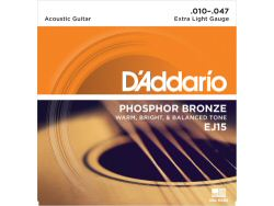 DAddario EJ15 Phosphor Bronze Extra Light Set