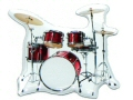 Drum Kit Fridge Magnet