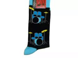 Drum Kit Socks Blue And Yellow