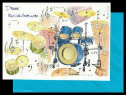 Drums Card Musical Instruments
