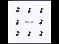 Good Luck Music Notes Card