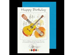 Happy Birthday Guitar Card