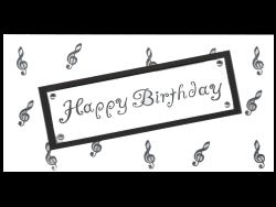 Happy Birthday Treble Clef Card