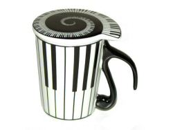 Piano Keyboard Mug with Lid