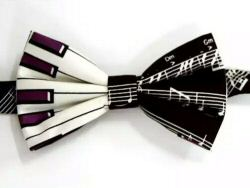 Keyboard and Manuscript Design Bow Tie