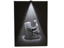 3D Piano LED Picture