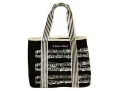 Music Design Canvas Tote Bag