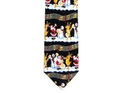 Musical Christmas Characters Silk Tie