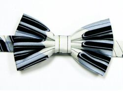 Keyboard Design Bow Tie - Blue Detail