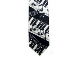 Black and White Silk Tie Keyboard Design