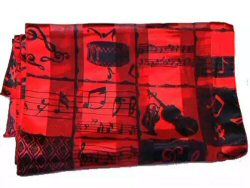 Red and Black Scarf Instruments Design