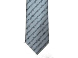 Grey Tie With Diagonal Music Staves - 9cm
