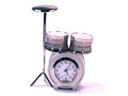 Small Drum Kit Desk Clock