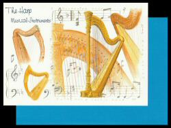 Harp Card Musical Instruments