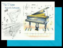 Piano Card Musical Instruments