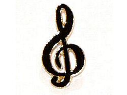 Treble Clef Pin Badge