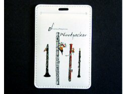 Woodpecker Luggage Tag